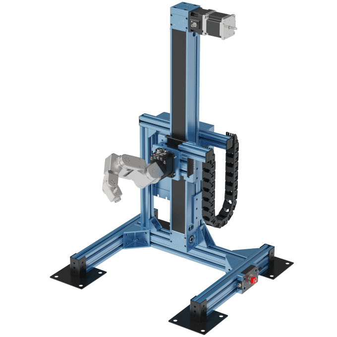Vention vertical guide with Meca500 robot