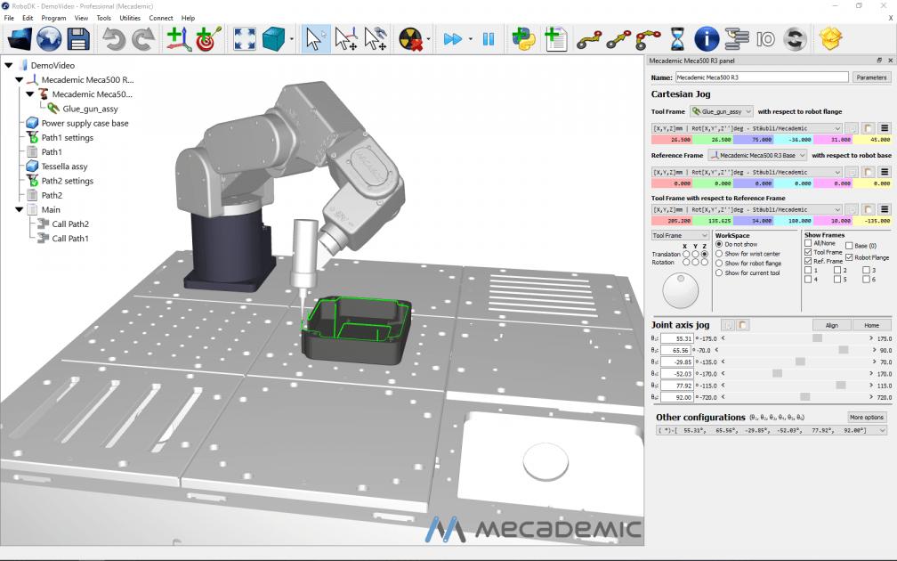 Meca-RoboDK Simulation and Programming Software