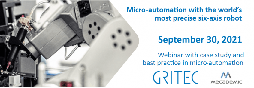 GRITEC and Mecademic Robotics Webinar on Sep 30, 2021