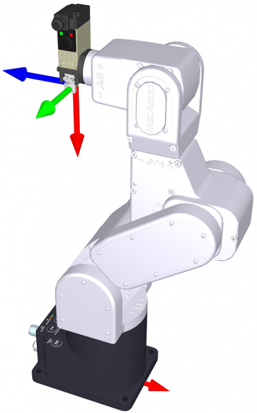 This end-effector pose can be attained with only one robot configuration