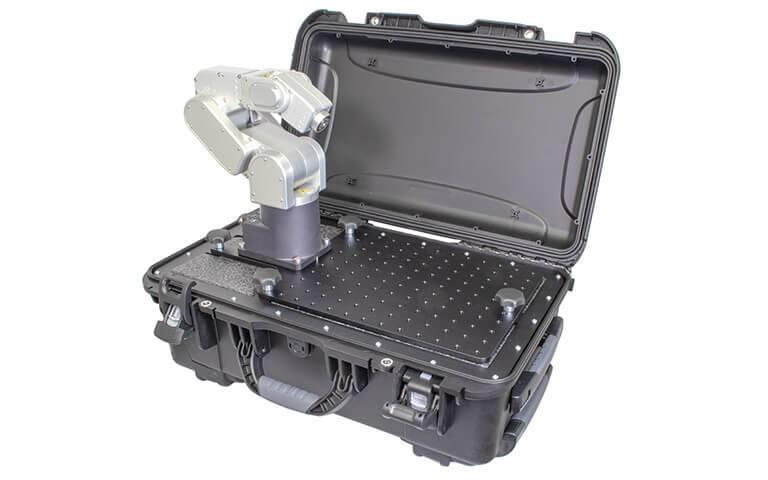 demo case inside robot mounted